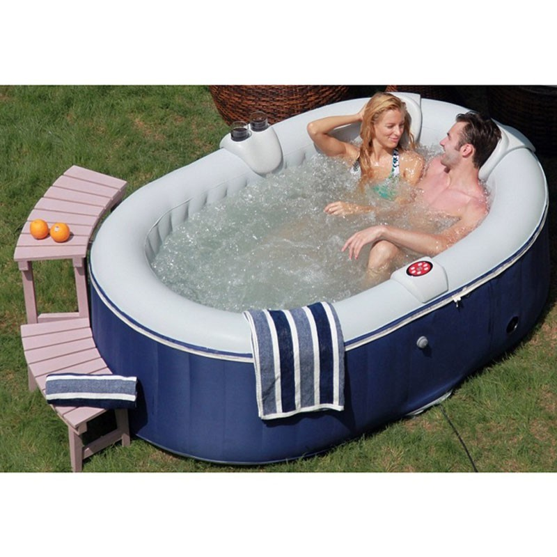 Spa jacuzzi gonflable bubble spa gonflable spa jacuzzi ext rieur jacuz - Spa gonflable 2 personnes pas cher ...