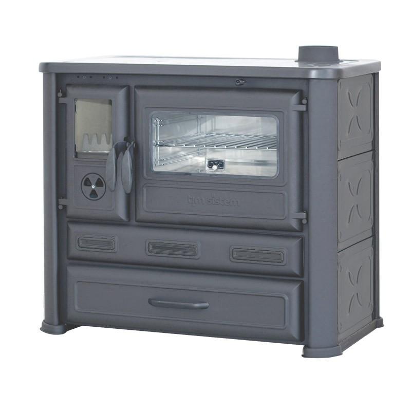cuisiniere poele a bois briquette four integre payez 38 m ebay. Black Bedroom Furniture Sets. Home Design Ideas