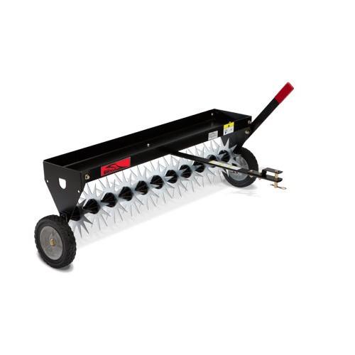 Epandeur d 39 engrais train capacit 56 kg r glage du d bit jardinage e - Scarificateur pour pelouse ...