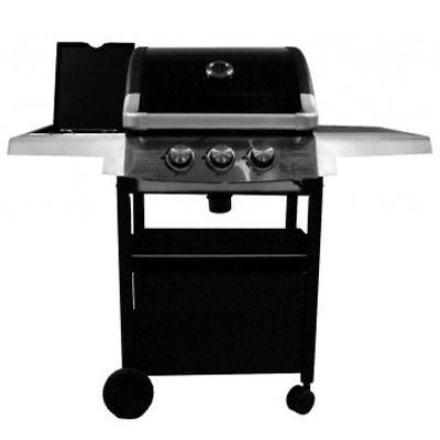 barbecue gaz 2 1 acier graffite noir et inox grill experience loisirs barbecues. Black Bedroom Furniture Sets. Home Design Ideas