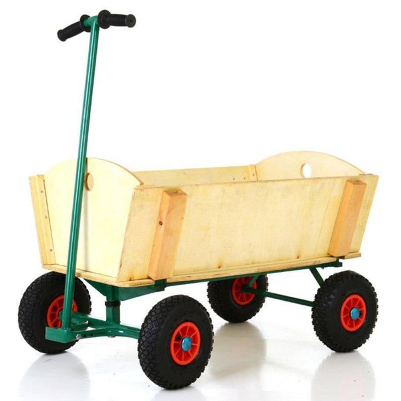 Chariot de jardin en bois 4 roues jardinage chariots for Brouette 4 roues pour jardin