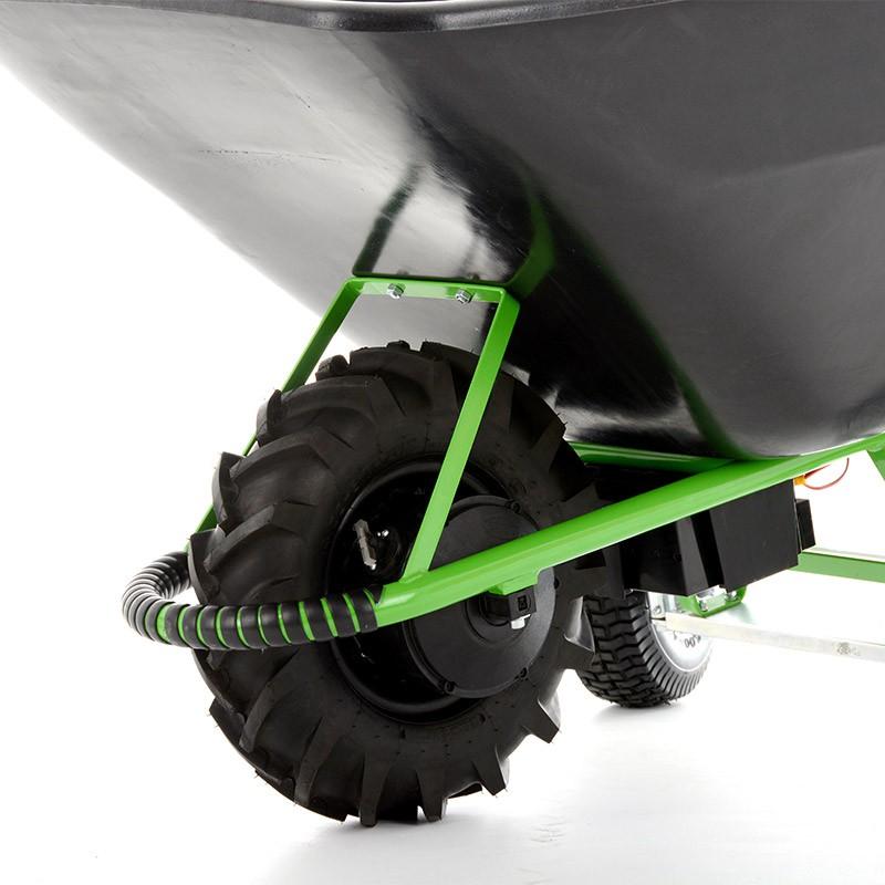 Bravo brouette lectrique polyvalente 3 roues avec frein cuve de 180l pvc jardinage chariots - Brouette deux roues ...